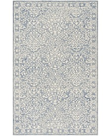Olivier LRL6935M Blue and Ivory 8' X 10' Area Rug