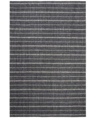 Miles Stripe LRL6400A Charcoal 4' X 6' Area Rug