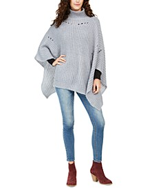 Pointelle-Knit Poncho