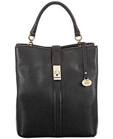 Amelia Black Newbury Leather Bucket Bag