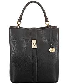 Brahmin Amelia Black Newbury Leather Bucket Bag