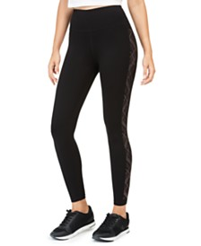 Calvin Klein Performance Plaid Rhinestone Leggings