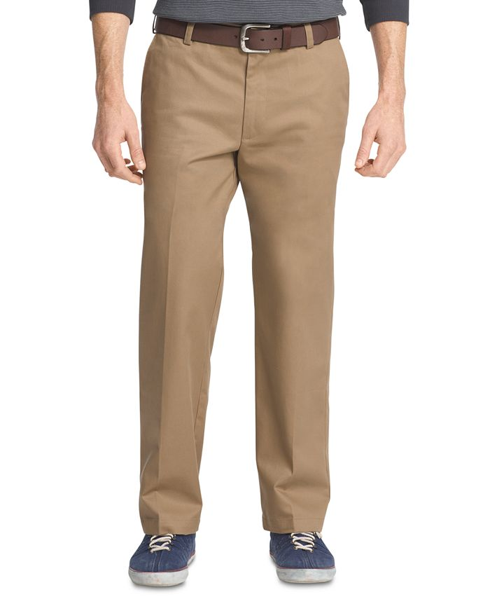IZOD - American Straight-Fit Flat Front Chino Pants
