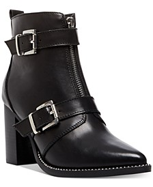 Women's Halle Moto Buckle Leather Booties