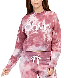 Sunburst Tie-Dyed Cropped Sweatshirt
