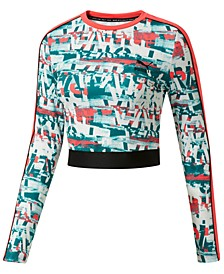 Be Bold Long-Sleeve Cropped Top