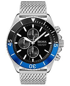 Men's Chronograph Ocean Edition Stainless Steel Mesh Bracelet Watch 46mm