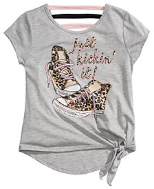 Beautees Big Girls Embellished Sneaker T-Shirt