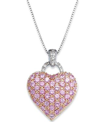 index magnificent necklace flower jewelry tennis and white diamond pink