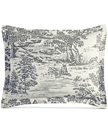 Fox Toile Flannel Standard Sham, Created for Macy's