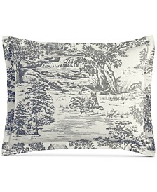 Martha Stewart Collection Fox Toile Flannel King Sham, Created for Macy's