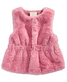 Baby Girls Faux-Fur Vest, Created For Macy's