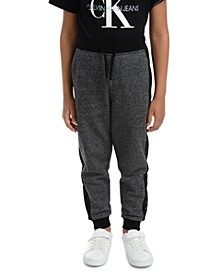 Little Boys Colorblocked Mesh Logo-Panel Fleece Joggers