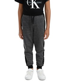 Calvin Klein Jeans Little Boys Colorblocked Mesh Logo-Panel Fleece Joggers