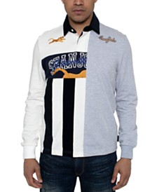 Sean John Men's Varsity Split Polo Shirt