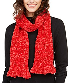 Cable Ruffle Chenille Muffler Scarf, Created for Macy's