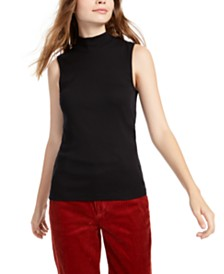 Splendid Maggie Mock-Neck Top