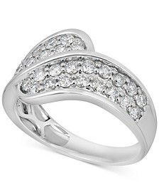 Diamond Overlap Statement Ring (1 ct. t.w.) in 14k White Gold