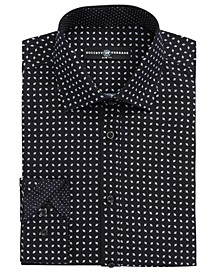 Men's Slim-Fit Performance Quad Diamond Dress Shirt