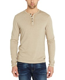 Buffalo David Bitton Men's Kaduk Solid Henley