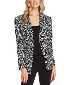 Vince Camuto Zebra-Print Single-Button Blazer