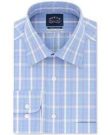 Men's Classic/Regular-Fit Non-Iron Stretch-Collar Plaid Dress Shirt