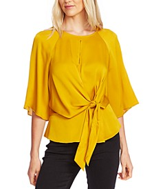 Tie-Front Keyhole Top