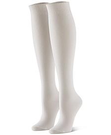 Women's 3-Pk. Flat-Knit Knee Socks
