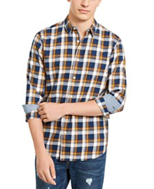 American Rag Men's Oliver Plaid Shirt, Created For Macy's