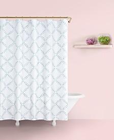 "Kate Spade New York Fern Trellis Cotton 72"" x 72"" Shower Curtain"