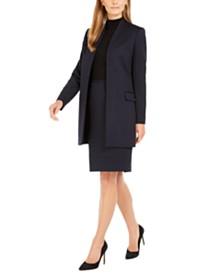 Calvin Klein Textured Topper, Sleeveless Mock-Neck Top & Textured Pencil Skirt