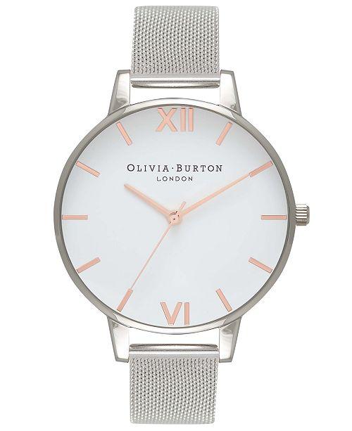 Olivia Burton Women's Stainless Steel Mesh Bracelet Watch 38mm