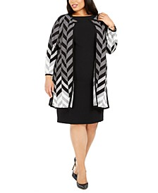 Plus Size Chevron Cardigan Sweater