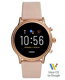 Fossil Tech Gen 5 Julianna HR Nude Leather Strap Smart Watch 44mm