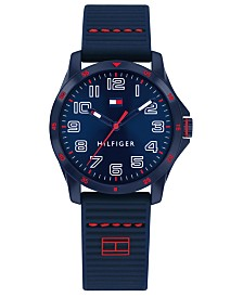 Tommy Hilfiger Kid's Blue Silicone Strap Watch 32mm, Created For Macy's