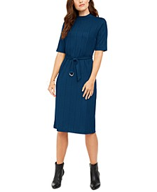 Mock-Neck Belted Dress, Created for Macy's