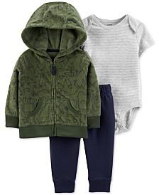 Carter's Baby Boys 3-Pc. Woodland Creatures Jacket, Bodysuit & Pants Set