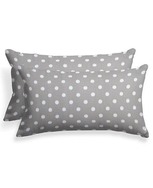 "EF Home Decor EF Home Decor Indoor/Outdoor Reversible Lumbar Pillow 24""X16"" - Set Of 2"