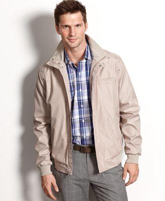 Calvin Klein Coat, Lightweight Water Resistant Bomber Jacket ...