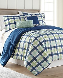 Gingham 5 Piece Comforter Set - King
