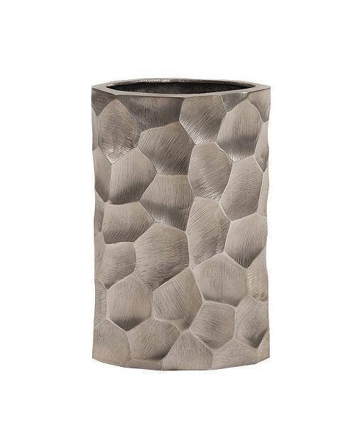Howard Elliott Hammered Aluminum Oval Vase Graphite