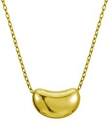 18K Gold Over Sterling Silver Lovely Bean Design Necklace