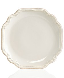 Lenox Dinnerware, French Perle Bead White Salad Plate