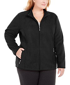 Plus Size Zip-Front Jacket, Created For Macy's