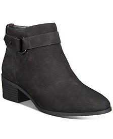 Giani Bernini Putneyy Memory Foam Block-Heel Booties, Created for Macy's