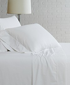 Solid Cotton Percale Full Sheet Set