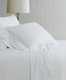 Brooklyn Loom Solid Cotton Percale Full Sheet Set