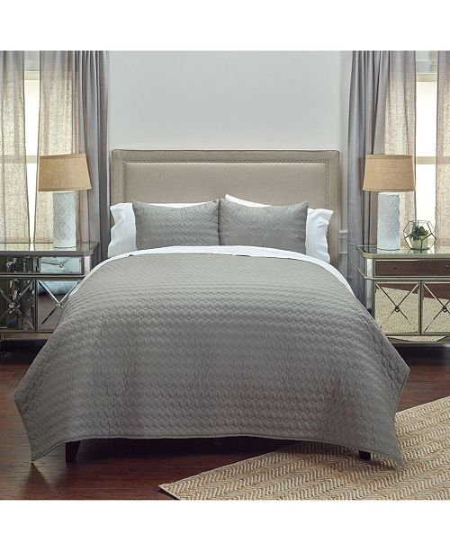 Rizzy Home Riztex USA Urban Mesh King Quilt