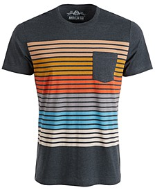 Men's Colorblocked Striped T-Shirt, Created For Macy's