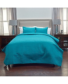 Riztex USA Parker Teal King 3 Piece Quilt Set